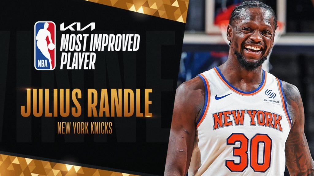 Julius Randle prejel nagrado za igralca, ki je najbolj napredoval