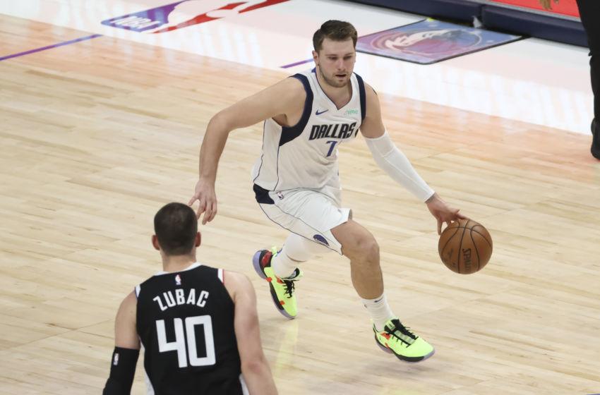 Luka Dončić na tekmi proti Los Angeles Clippers